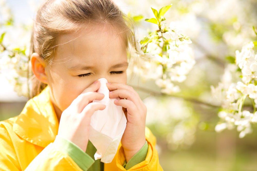 아이의 봄 알레르기