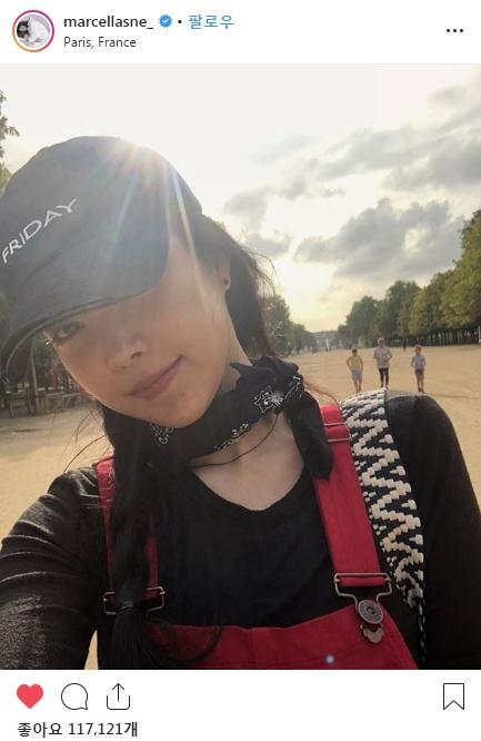 손나은 파리 여행 간 인스타그램사진