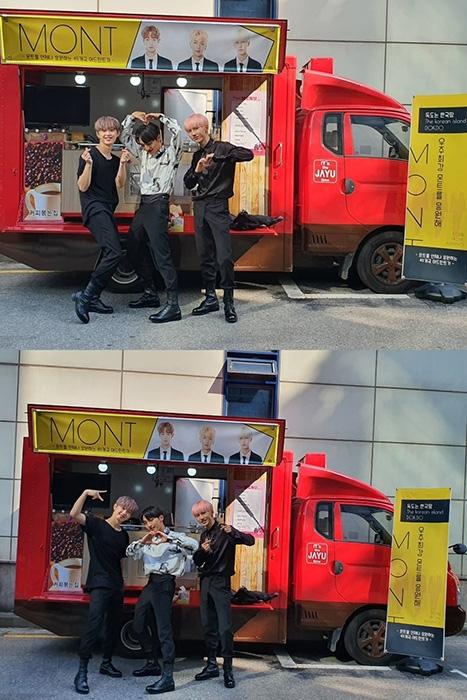 몬트, '독도는 한국땅' MV 촬영 현장 커피차 응원에 미소