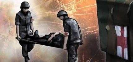 한 군부대에서 총기점검중 바닥에 총기 발사