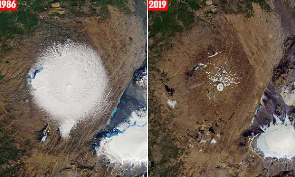 33년만에 거의 다 녹은 빙하.jpg