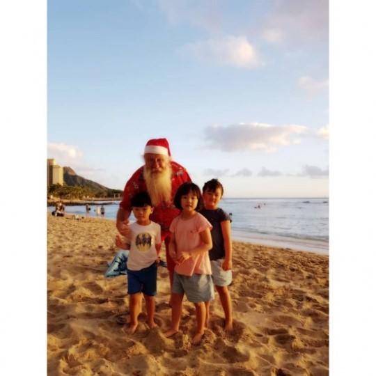 이동국 아이들 앞에서 산타 변신