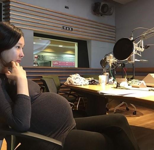이지혜 임신 10개월 만삭 인증샷