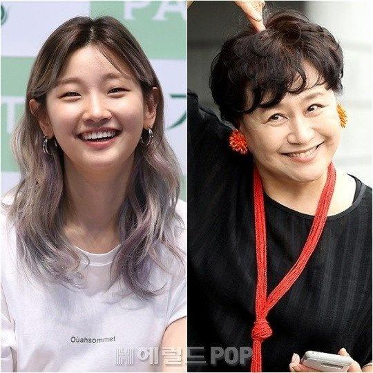 배우 박원숙 박소담 6촌사촌지간이었다