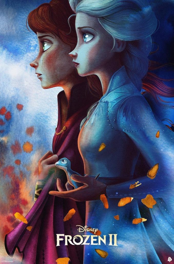 겨울왕국2 새로운 포스터