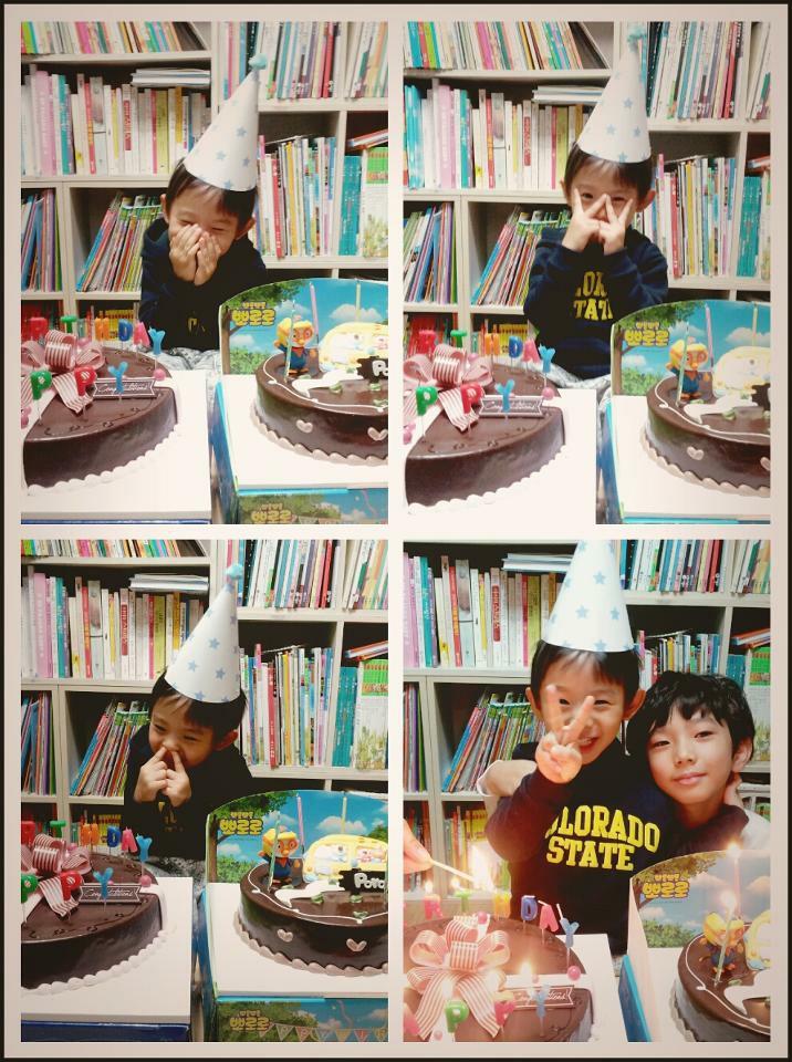 나의 생일을 축하해줘서 부끄러워~~