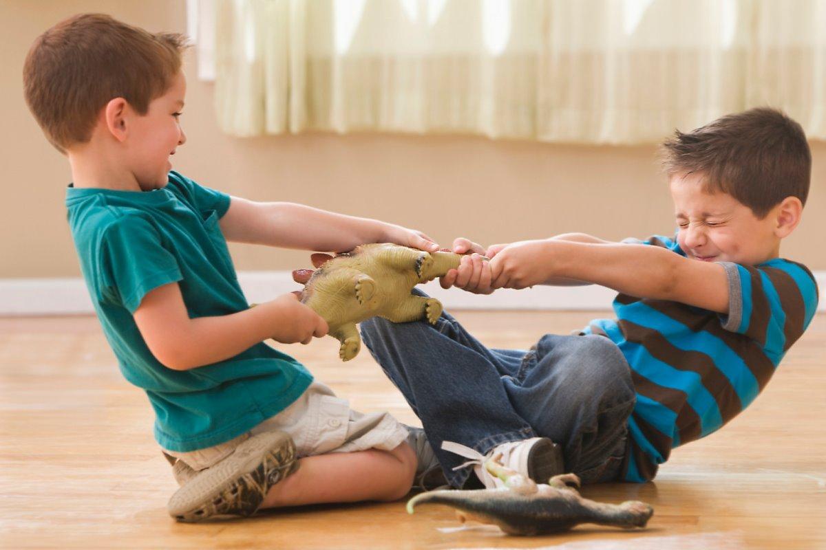 매일 장난감으로 싸우는 아이들