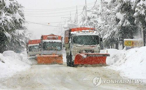 강릉 제설 수준
