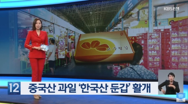 한국산으로 둔갑해 팔리는 중국산