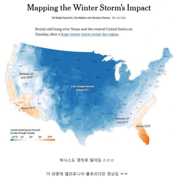 역대급 추위라는 올겨울 미국