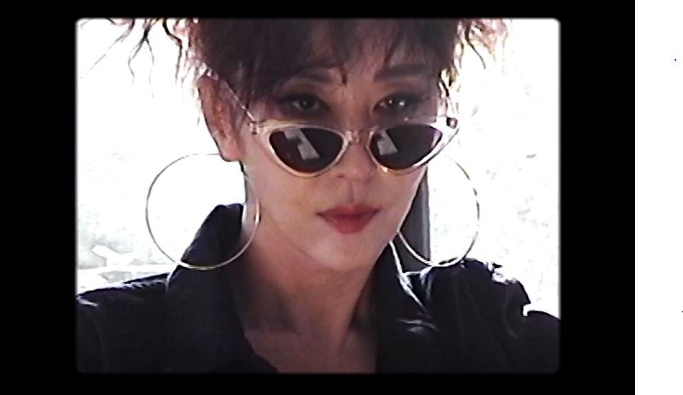 김완선 유튜브 속 청청패션