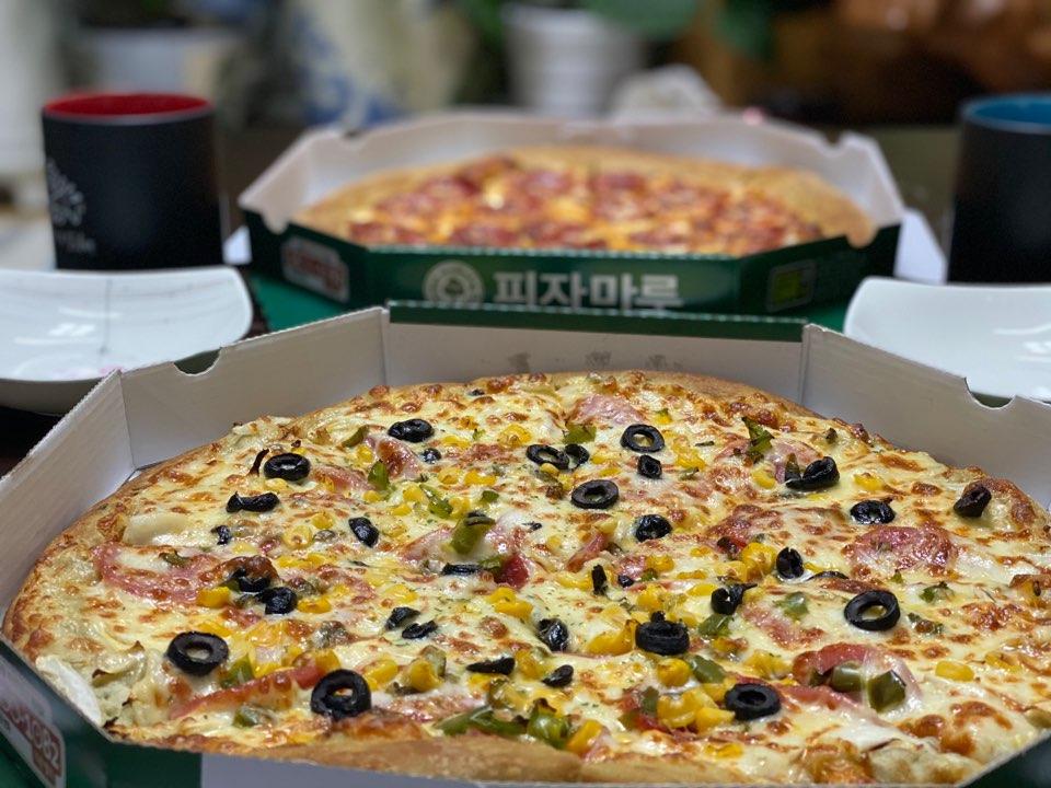 푸짐한 피자마루 투탑박스 동네 맛집!!