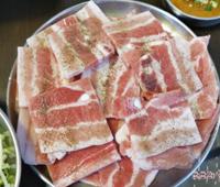 마포 냉동삼겹살 맛집 구이마당