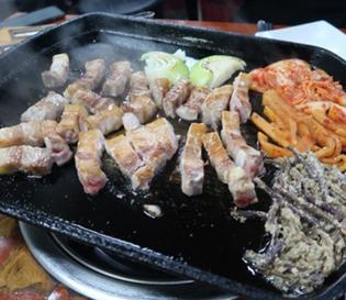 용산역 고기집 가람떡갈비에서 삼겹살 맛있게 먹고왔어요!