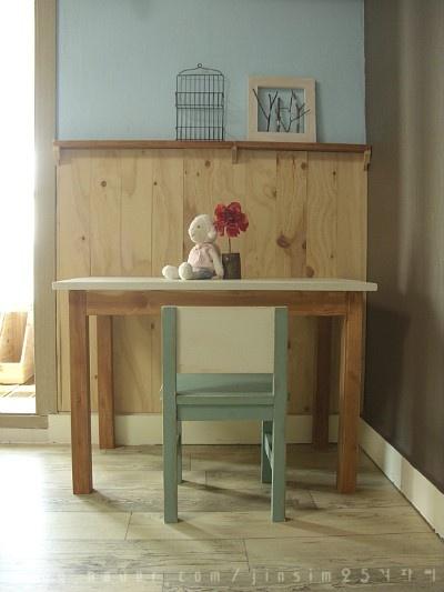 [리폼,DIY] 나무로 만든 소품 : 아이 책상,의자 만들기