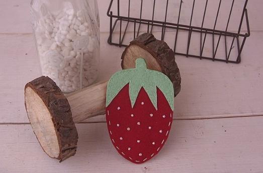 핸드메이드 액세서리 만들기 - 귀여운 딸기 똑딱핀
