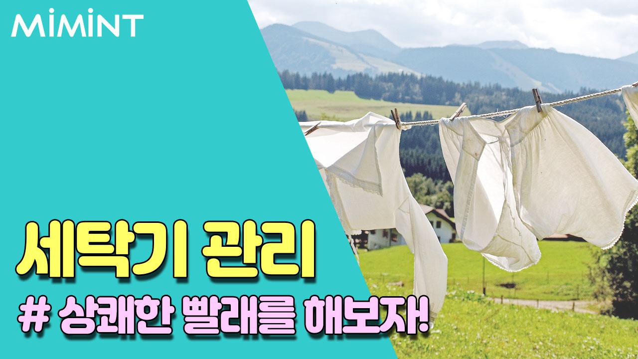 빨래에서 냄새가? 여름철 세탁기 관리법!