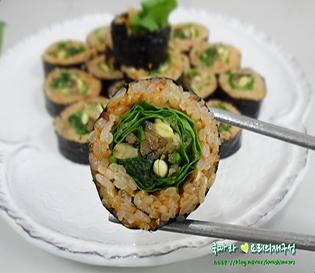 명절음식 나물처리하기!/나물김밥, 비빔김밥