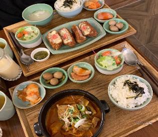 [미자식당]뚝섬역 맛집, 명란치즈돈까스와 김치찜의 조합