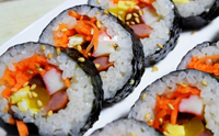 당근김밥 밥맛좋은쌀과 생당근의 조화