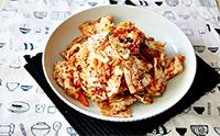 양배추 요리, 아삭하게 양배추 김치 만드는법