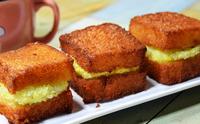 감자에그샌드위치튀김 감자에그토스트 멘보샤느낌 식빵요리