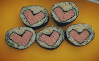 김밥예쁘게싸는법_스팸하트김밥, 맛있고예쁘고간단해요!