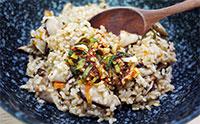 만점 건강밥상 표고버섯밥  바지락 순두부찌개