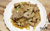 돼지고기 간장불고기 양념 짭조름한 돼지목살 요리