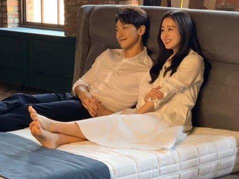 광고촬영중인 김태희와 비